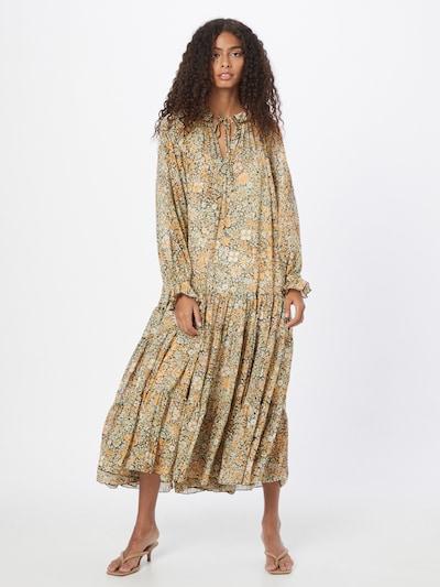 Free People Košeľové šaty 'Feeling groovy' - zelená / oranžová / biela, Model/-ka