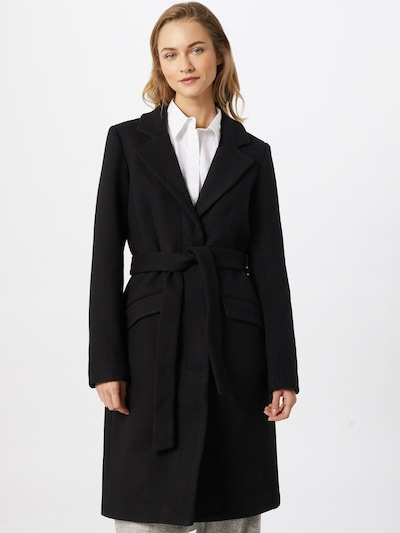 Demisezoninis paltas iš VILA , spalva - juoda, Modelio vaizdas