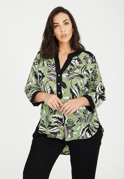 SPGWOMAN Blouse in de kleur Groen / Zwart, Modelweergave