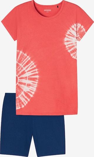 SCHIESSER Nachtkledij in de kleur Koraal / Wit, Productweergave