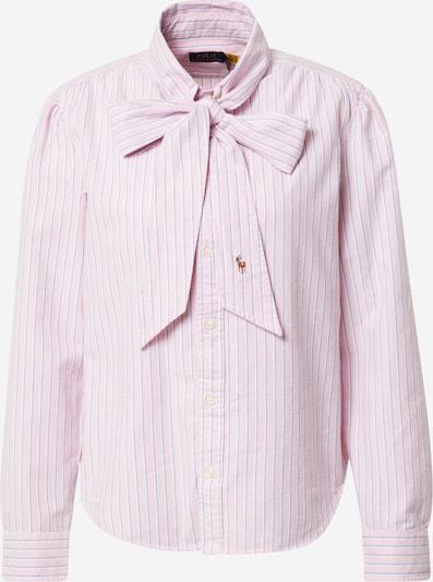 POLO RALPH LAUREN Bluse in rauchblau / cognac / rosa, Produktansicht