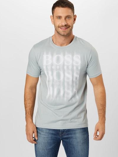 Marškinėliai iš BOSS , spalva - pilka / balta: Vaizdas iš priekio
