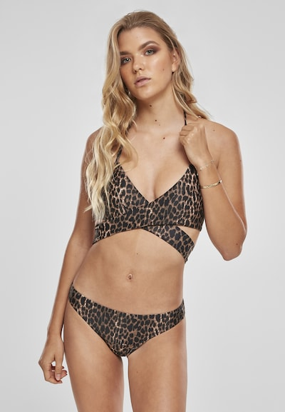 Urban Classics Bikini in Brown / Black, View model