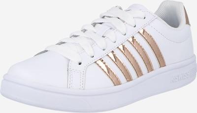 K-SWISS Sneaker 'Court Tiebreak' in rosegold / weiß, Produktansicht