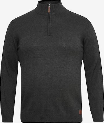 BLEND Strickpullover 'BT Robin' in Grau