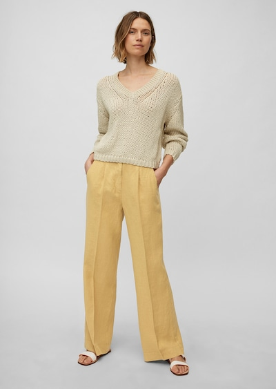 Marc O'Polo Pantalon à pince en jaune, Vue avec produit