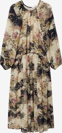 MANGO Kleid 'Mulan' in hellbeige / pastelllila / schwarz / wollweiß, Produktansicht
