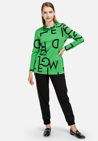 HELMIDGE Langarmbluse in grün, Modelansicht
