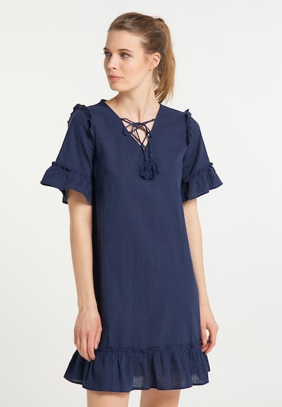 usha BLUE LABEL Sommerkleid in dunkelblau, Modelansicht