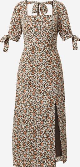 Fashion Union Jurk 'JOAN' in de kleur Pueblo / Lichtgroen / Sinaasappel / Wit, Productweergave