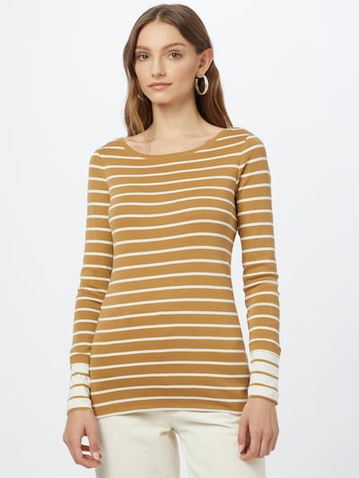 ESPRIT Shirt in Camel / White: Frontal view