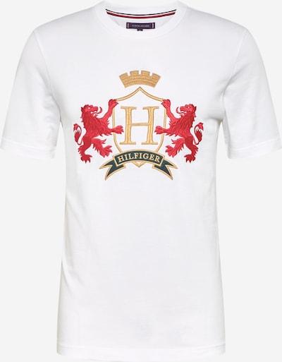 Maglietta 'ICON FAMILY CREST' TOMMY HILFIGER di colore giallo / rosso / bianco: Vista frontale