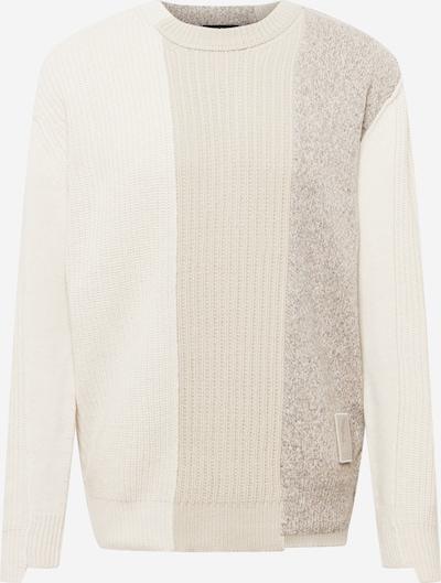 DIESEL Pullover in creme / braunmeliert / weiß, Produktansicht