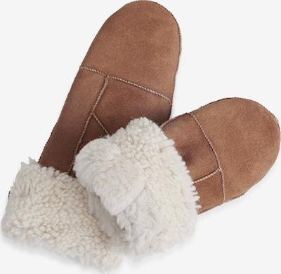 MARKBERG Fäustlinge 'Bella' in braun / weiß, Produktansicht
