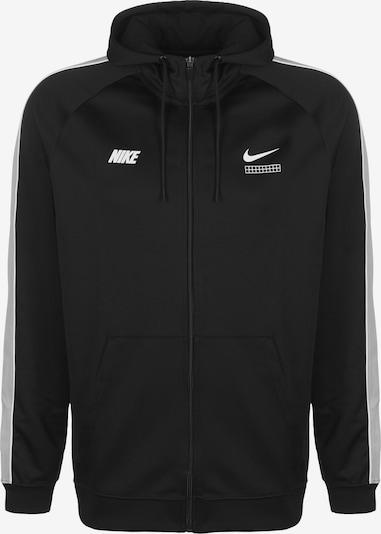 NIKE Sweatjacke in schwarz / weiß, Produktansicht