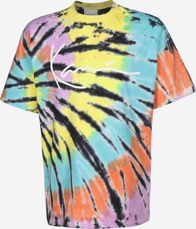 Karl Kani T-Shirt 'Tie Dye Signature' in türkis / gelb / rot / schwarz, Produktansicht