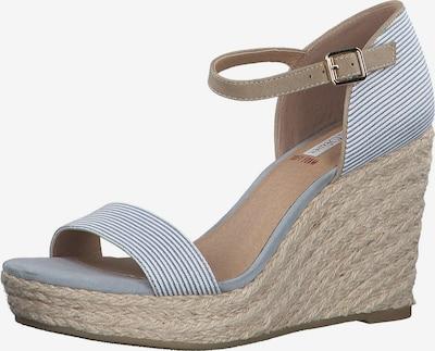 Sandale cu baretă s.Oliver pe albastru fum / maro / alb, Vizualizare produs