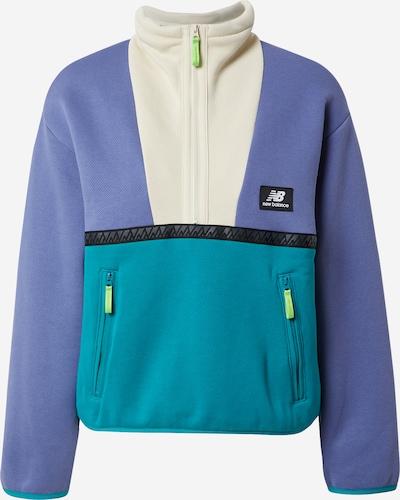 new balance Sweatshirt 'Trail' in nude / türkis / lila / schwarz, Produktansicht