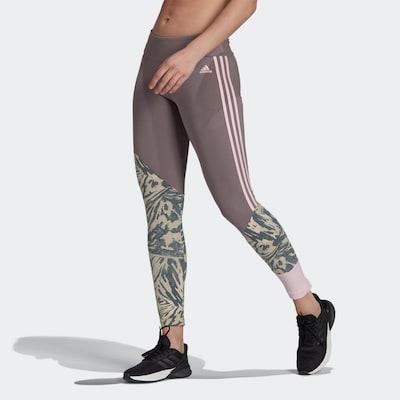 ADIDAS PERFORMANCE Sportovní kalhoty - béžová / chladná modrá / kouřově šedá / růžová, Model/ka