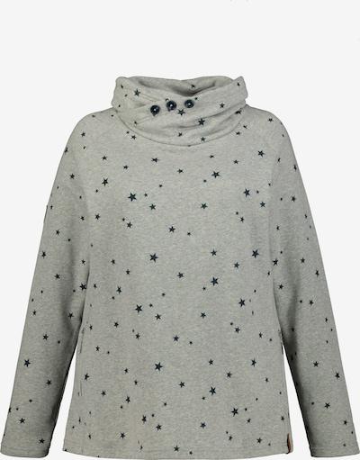 Ulla Popken Sweatshirt '751331' in hellgrau / schwarz, Produktansicht