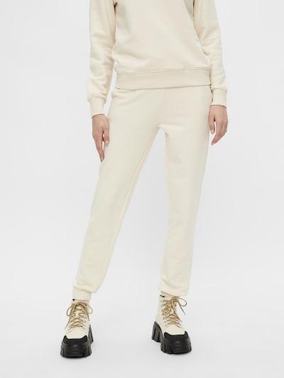PIECES Pantalon 'Pip' en beige, Vue avec modèle