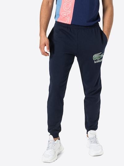 LACOSTE Sporthose in navy / grün / weiß, Modelansicht