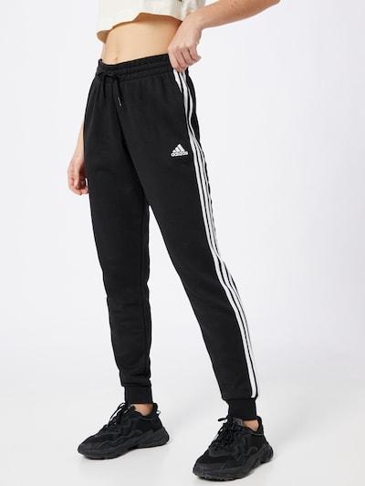 ADIDAS PERFORMANCE Sportske hlače u crna / bijela, Prikaz modela