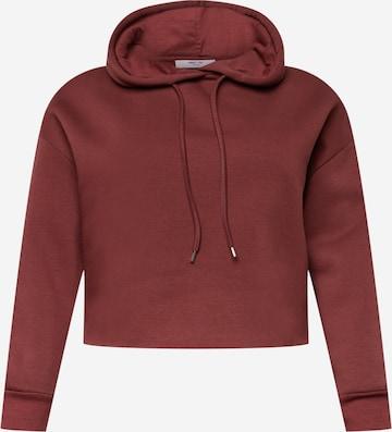 ABOUT YOU Curvy Sweatshirt 'Natascha' in Braun