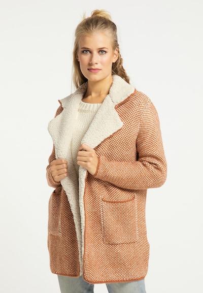 usha FESTIVAL Abrigo de punto en camelo / marrón claro, Vista del modelo