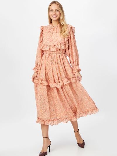 Stella Nova Robe-chemise 'Barbara' en mandarine / orange pastel / rose / rose / blanc, Vue avec modèle