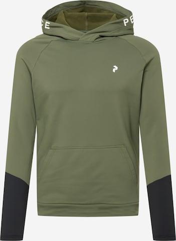 PEAK PERFORMANCE Sportsweatshirt 'Rider' i grønn