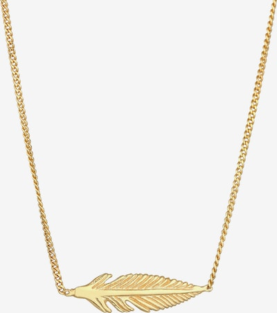 ELLI Halskette Boho, Feder in gold, Produktansicht
