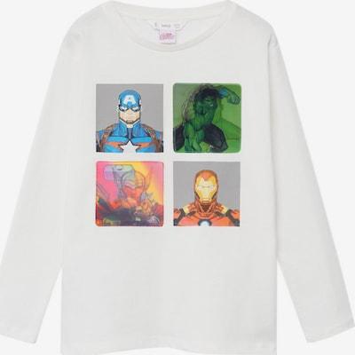 MANGO KIDS Shirt 'Marvel' in mischfarben / weiß, Produktansicht