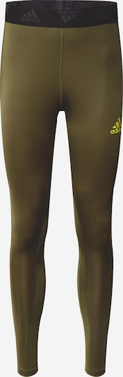 ADIDAS PERFORMANCE Sportbroek in de kleur Groen / Zwart, Productweergave