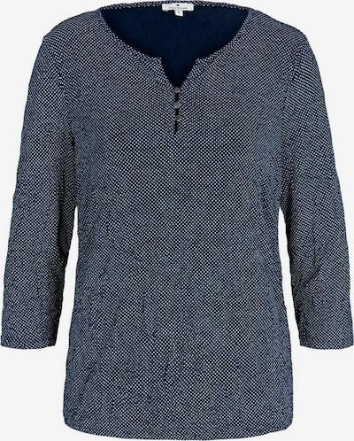 TOM TAILOR Shirt in dunkelblau / weiß, Produktansicht