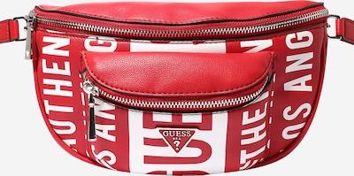 GUESS Gürteltasche 'MANHATTAN' in rot / weiß, Produktansicht