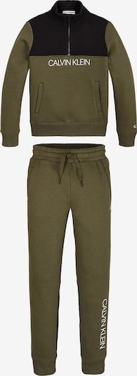 Calvin Klein Jeans Set en olive / noir / blanc, Vue avec produit