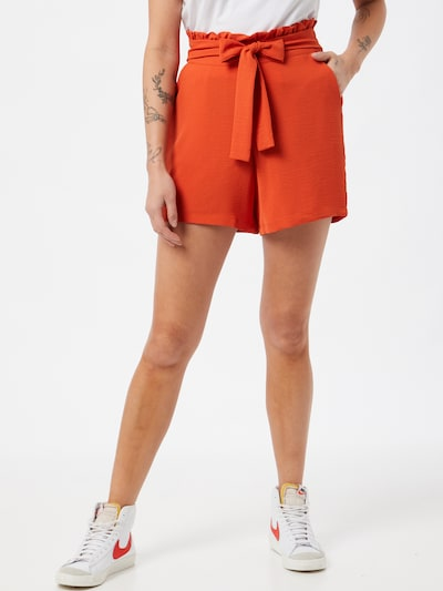 VILA Pantalon à pince 'RASHA' en orange, Vue avec modèle
