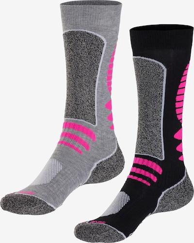 LASCANA ACTIVE Skisocken in grau / pink, Produktansicht
