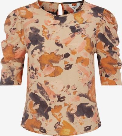 OBJECT Majica 'OBJGALINA 114' | bež / antracit / oranžna barva, Prikaz izdelka