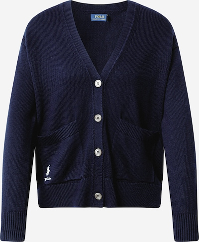 POLO RALPH LAUREN Knit cardigan in navy / white, Item view