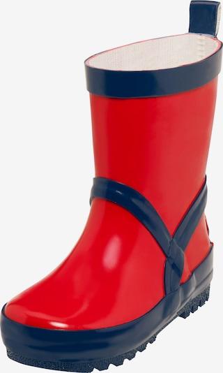 PLAYSHOES Bottes en caoutchouc en bleu marine / rouge, Vue avec produit