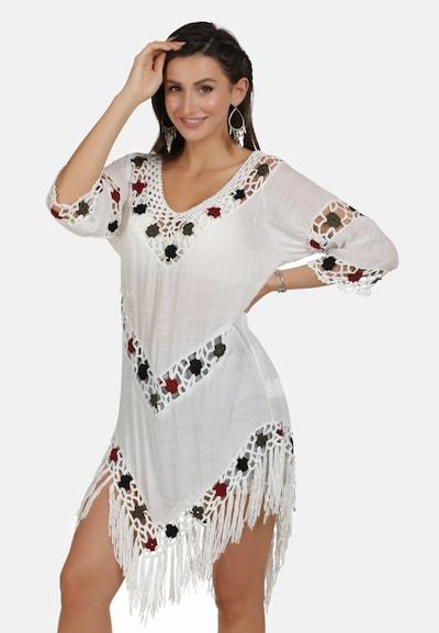 usha FESTIVAL Tuniek in de kleur Spar / Donkerrood / Zwart / Wit, Modelweergave