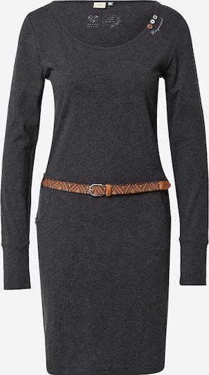 Ragwear Kleid 'MONTANA' in karamell / dunkelbraun / dunkelgrau, Produktansicht