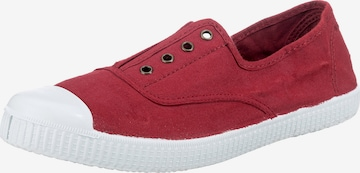 VICTORIA Slip-Ons in Red