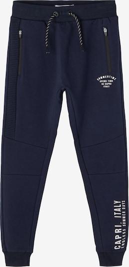 NAME IT Pantalon 'Haggo' en bleu foncé / blanc: Vue de face