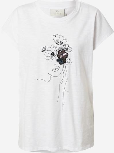 Kaffe T-Shirt in blau / lila / schwarz / weiß, Produktansicht