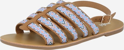 rubi Strap sandal 'MILLER' in Dark beige / Sky blue / Pink / White, Item view