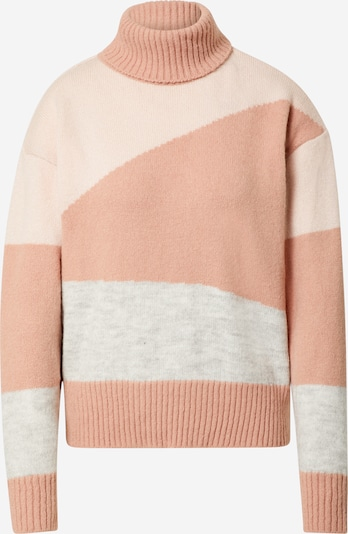 NA-KD Pullover in graumeliert / rosa / altrosa, Produktansicht
