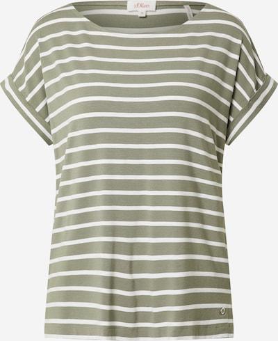 s.Oliver Shirt in khaki / weiß, Produktansicht